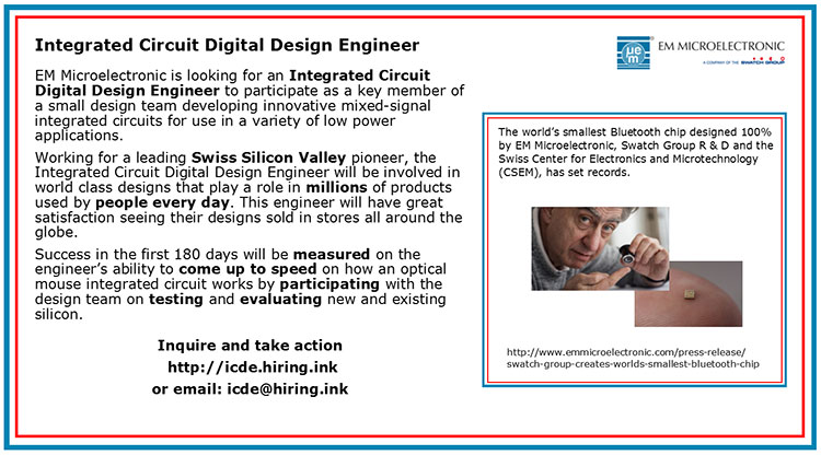 Integrated Circuit Digital Design Engineer Ieee Signal Processing Society